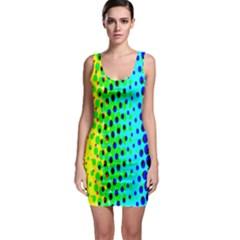 Comic Strip Dots Circle Rainbow Sleeveless Bodycon Dress by Alisyart