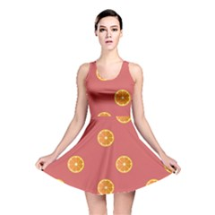 Oranges Lime Fruit Red Circle Reversible Skater Dress
