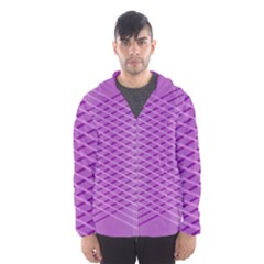 Abstract Lines Background Hooded Wind Breaker (men) by Amaryn4rt