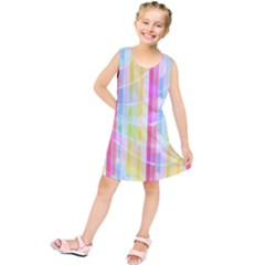 Colorful Abstract Stripes Circles And Waves Wallpaper Background Kids  Tunic Dress by Amaryn4rt