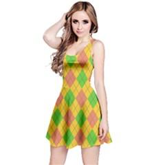 Plaid Pattern Reversible Sleeveless Dress by Valentinaart