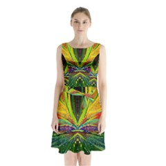 Future Abstract Desktop Wallpaper Sleeveless Chiffon Waist Tie Dress by Amaryn4rt