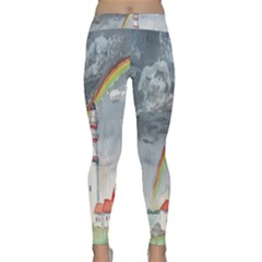 Watercolour Lighthouse Rainbow Classic Yoga Leggings