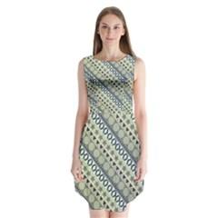 Abstract Seamless Pattern Sleeveless Chiffon Dress   by Amaryn4rt