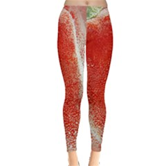 Red Pepper And Bubbles Leggings  by Amaryn4rt
