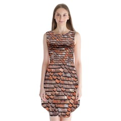 Roof Tiles On A Country House Sleeveless Chiffon Dress   by Amaryn4rt
