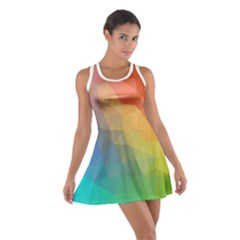 Rainbow Bubble Cotton Racerback Dress by Wanni