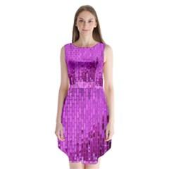 Purple Background Scrapbooking Paper Sleeveless Chiffon Dress   by Amaryn4rt