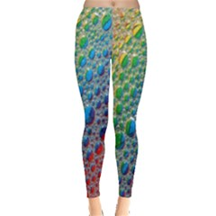 Bubbles Rainbow Colourful Colors Leggings  by Amaryn4rt
