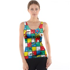 Snakes And Ladders Tank Top by Amaryn4rt