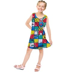 Snakes And Ladders Kids  Tunic Dress by Amaryn4rt