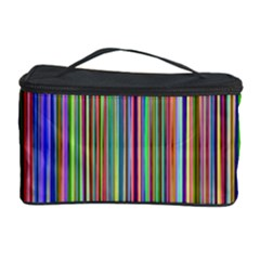 Striped Stripes Abstract Geometric Cosmetic Storage Case by Amaryn4rt