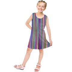 Striped Stripes Abstract Geometric Kids  Tunic Dress by Amaryn4rt