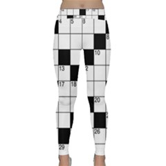 Crosswords  Classic Yoga Leggings by Valentinaart