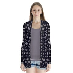 Dark Ditsy Floral Pattern Cardigans by dflcprintsclothing