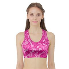 Pattern Sports Bra With Border by Valentinaart