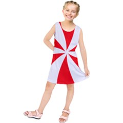 Candy Red White Peppermint Pinwheel Red White Kids  Tunic Dress by Alisyart