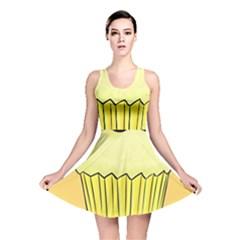 Cake Bread Pie Cerry Reversible Skater Dress by Alisyart