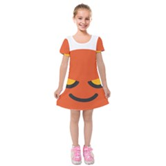 Devil Kids  Short Sleeve Velvet Dress