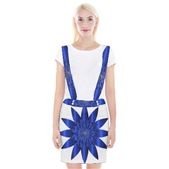 Chromatic Flower Blue Star Suspender Skirt