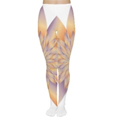 Chromatic Flower Gold Star Floral Women s Tights by Alisyart