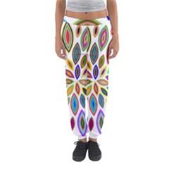 Chromatic Flower Petals Rainbow Women s Jogger Sweatpants by Alisyart