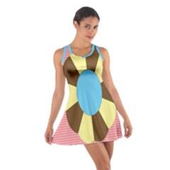 Garage Door Quilts Flower Line Cotton Racerback Dress by Alisyart