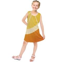 Orange Lime Yellow Fruit Fress Kids  Tunic Dress