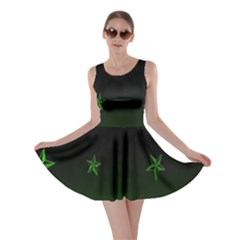 Nautical Star Green Space Light Skater Dress by Alisyart