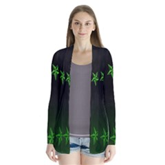 Nautical Star Green Space Light Cardigans by Alisyart