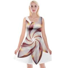 Prismatic Flower Line Gold Star Floral Reversible Velvet Sleeveless Dress by Alisyart