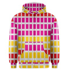 Squares Pattern Background Colorful Squares Wallpaper Men s Zipper Hoodie