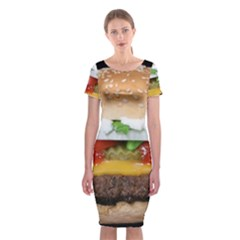 Abstract Barbeque Bbq Beauty Beef Classic Short Sleeve Midi Dress