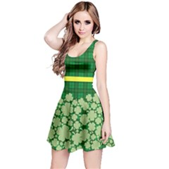 St Patricks Day, Reversible Sleeveless Dress by PattyVilleDesigns