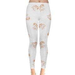 Helpless Bird Sketch Seamless Pattern Leggings  by dflcprintsclothing