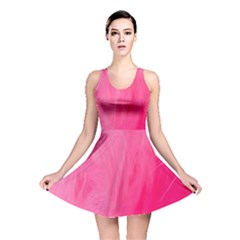 Very Pink Feather Reversible Skater Dress by Simbadda