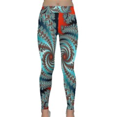 Digital Fractal Pattern Classic Yoga Leggings by Simbadda