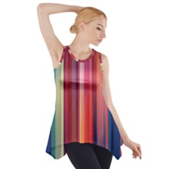 Texture Lines Vertical Lines Side Drop Tank Tunic by Simbadda