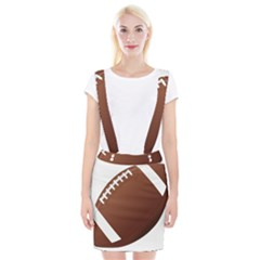 Football American Sport Ball Suspender Skirt