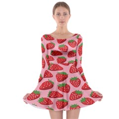 Fruit Strawbery Red Sweet Fres Long Sleeve Skater Dress