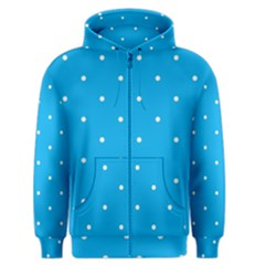 Mages Pinterest White Blue Polka Dots Crafting Circle Men s Zipper Hoodie