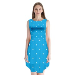 Mages Pinterest White Blue Polka Dots Crafting Circle Sleeveless Chiffon Dress   by Alisyart
