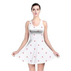 Mages Pinterest White Red Polka Dots Crafting Circle Reversible Skater Dress