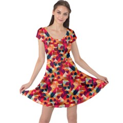 Modern Graphic Cap Sleeve Dresses by Alisyart