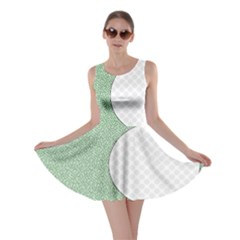 Golf Image Ball Hole Black Green Skater Dress by Alisyart