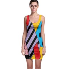Sally s Patchwork Pattern Sleeveless Bodycon Dress by Alisyart