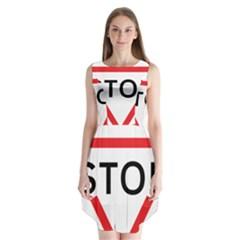 Stop Sign Sleeveless Chiffon Dress   by Alisyart