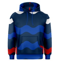 Wave Line Waves Blue White Red Flag Men s Pullover Hoodie