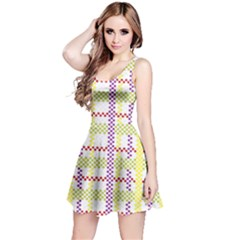 Webbing Plaid Color Reversible Sleeveless Dress by Alisyart