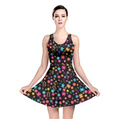 Floral Pattern Reversible Skater Dress by Valentinaart